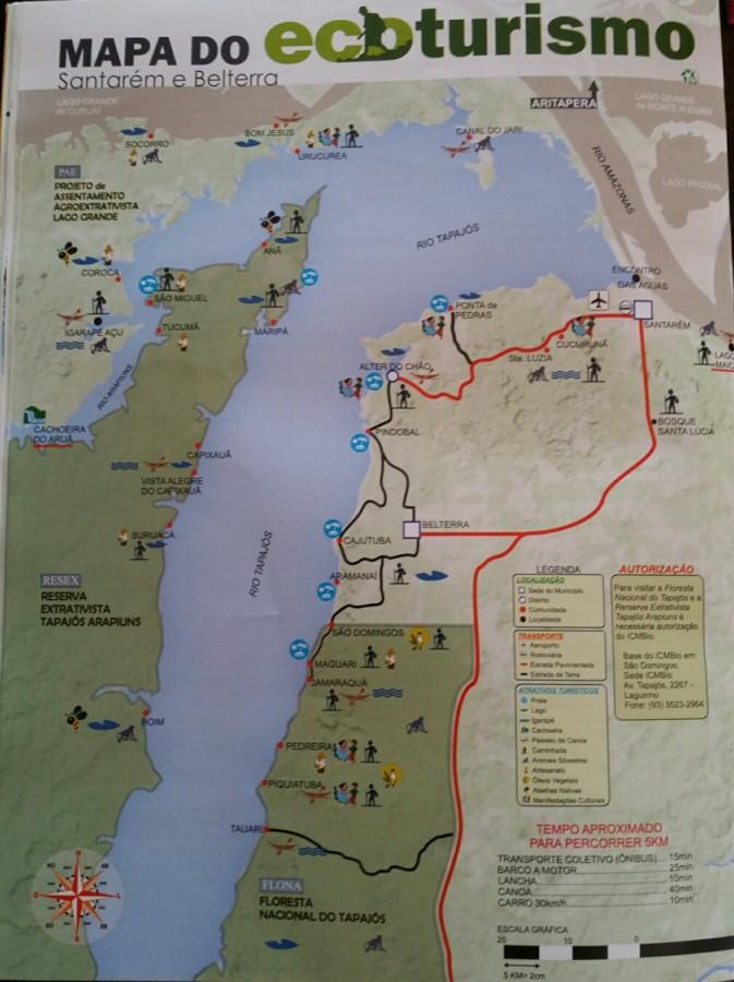 Alter do Chão - Mapa Turísitco de Alter e Belterra